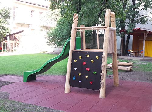 jofro kletterturm mit rutsche. Black Bedroom Furniture Sets. Home Design Ideas